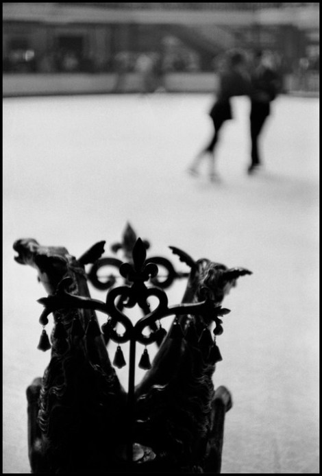 FRANCE. Paris. 1955. First rehearsals at the Palais de la Glace in Paris. In the foreground is an antique sleigh in which the Baron de Rede will make his entrance as King Louis II of Bavaria.