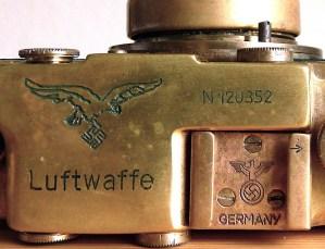 Cámara Leica fabricada para el régimen Nazi.