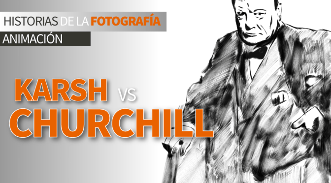 Yousuf Karsh vs Winston Churchill: Video-animación