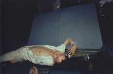 French Chris en el convertible. New York City. 1979