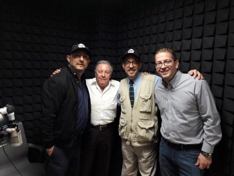 Ulises Castellanos, Aldo González (Productor General de RadioUP), Óscar Colorado, Bernardo Flores Heymann (Director de DiarioUP)