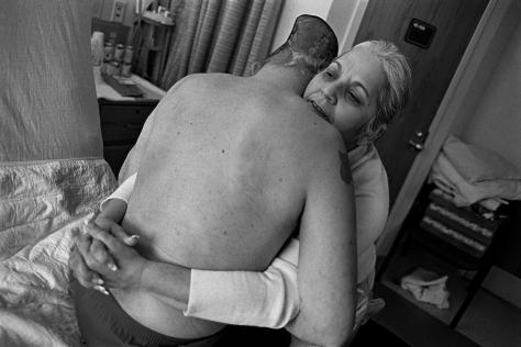 eugene_richards_Sgt. Jose Pequeno with his mother, Nelida Bagley. West Roxbury, Mass., 2008.