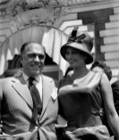 FRANCE. 19th Cannes film festival. 1966. Carlo PONTI and Sophia LOREN.