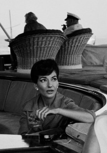 TURKEY. Istanbul. Greek singer Maria CALLAS on the Onassis yacht 'Christina' with Mr and Mrs Churchill. 1957.
