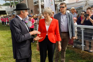 GB. Wales. Buith Wells. Royal Welsh Show. Theresa May. 2018.
