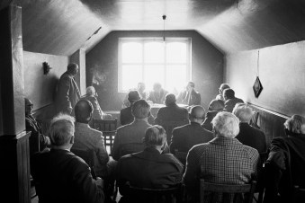 GB. England. Yorkshire. Hebden Bridge. Nasebottom. The Ancient Order of Hen-Pecked Husbands Annual General Meeting. Easter Monday, 1977.