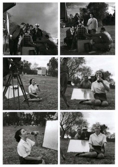 Nacho López durante la filmación de publicidad para Pepsi-Cola (1966). Acervo Familia López Binnqüist.