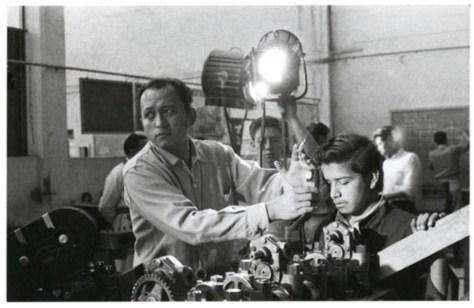 Nacho López filma un documental en 1959. Acervo de la familia López Binnqüist.