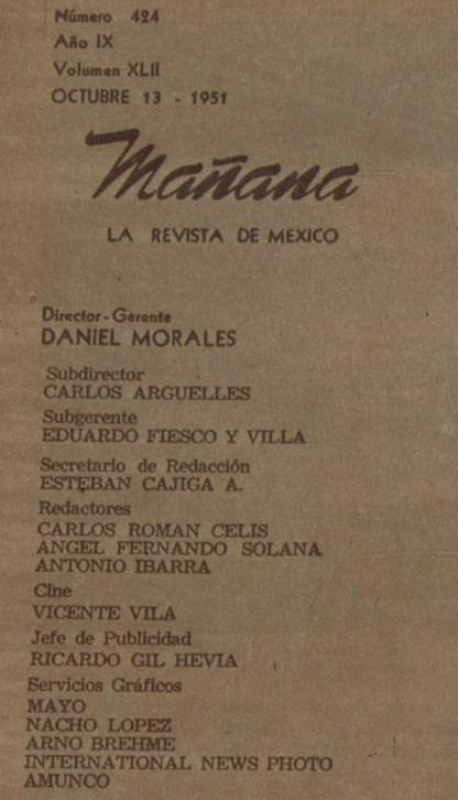Nacho López formaba parte de los servicios gráficos de la revista Mañana.