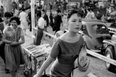 JAPAN. Tokyo. Ginza. Woman in westerners clothes. 1958.