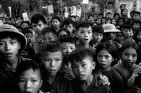 NORTH VIETNAM. 1969.ÊNorth Vietnam.1969. Children coming out of a small village school on the coast. As their astonished gazes well prove, they have rarely seen a Westerner.