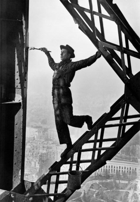 FRANCE. Paris. 1953. Zazou, the Eiffel tower's painter.