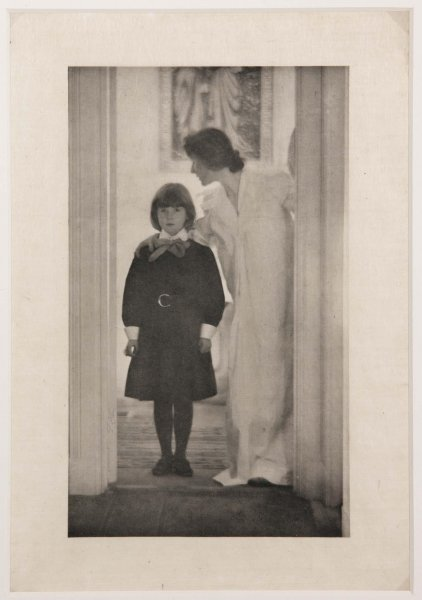 "Gertrude Käsebier. ""Blessed are thou among women."" 1899 (impresión de 1903)"