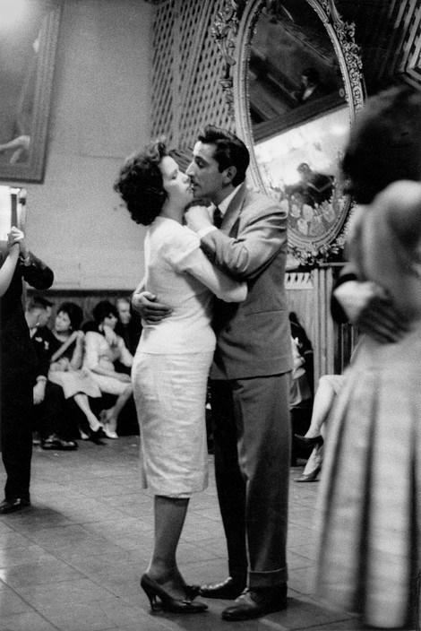 "Sergio Larrain. Valparaiso, Chile. Café ""Los Siete Espejos"". 1963."