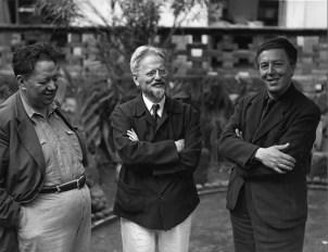 Diego Rivera, León Trotsky y André Bretón. 1930