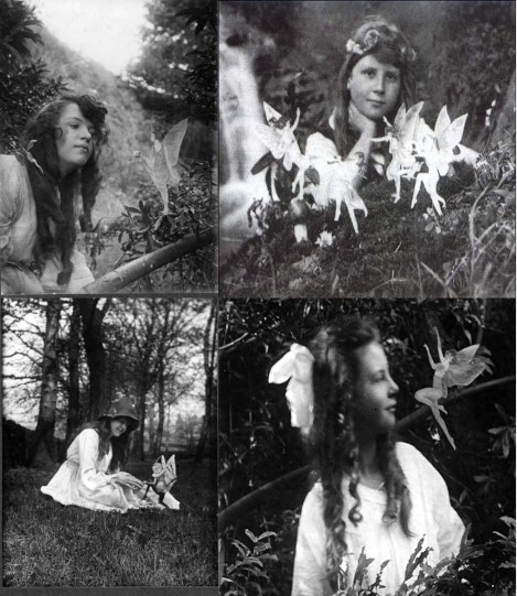 Elsie Wright y Frances Griffiths. Las Hadas de Cottingley (Cottingley Fairies), 1917.