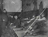 Alojamiento en una estación de policía. 1892. Jacob Riis