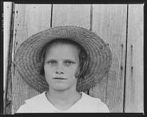 Lucille Burroughs daughter of a cotton sharecropper Hale County Alabama Walker Evans