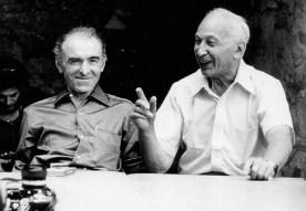 Robert Doisneau and André Kertész in Arles, France, 1975