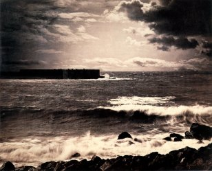Gustave Le Gray, Seashore and Clouds, Sete, albumen print 1857