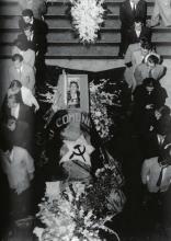 Héctor García. Guardia luctuosa ante el féretro de Frida Kahlo en Bellas Artes (Ciuda de México, 4 de julio de 1954)