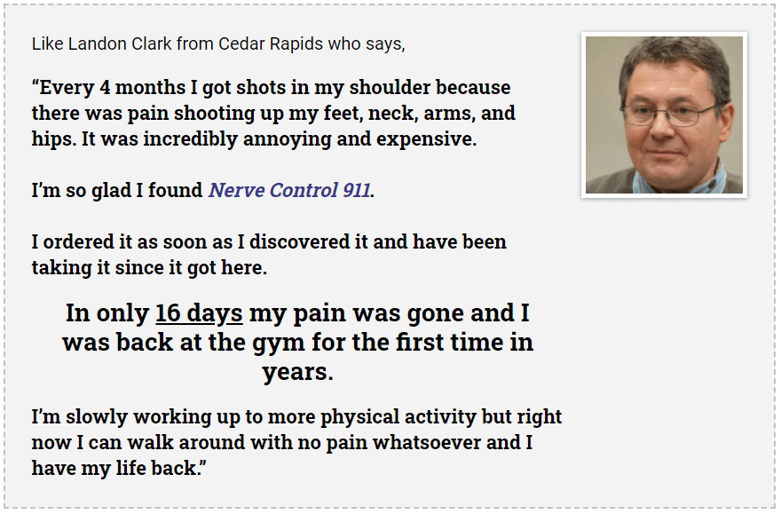 nerve control 911 results