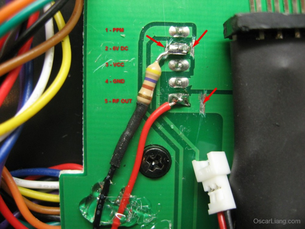 medium resolution of to complete the mod solder a 470 ohm resistor to pin 2 then connect