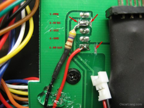 small resolution of to complete the mod solder a 470 ohm resistor to pin 2 then connect