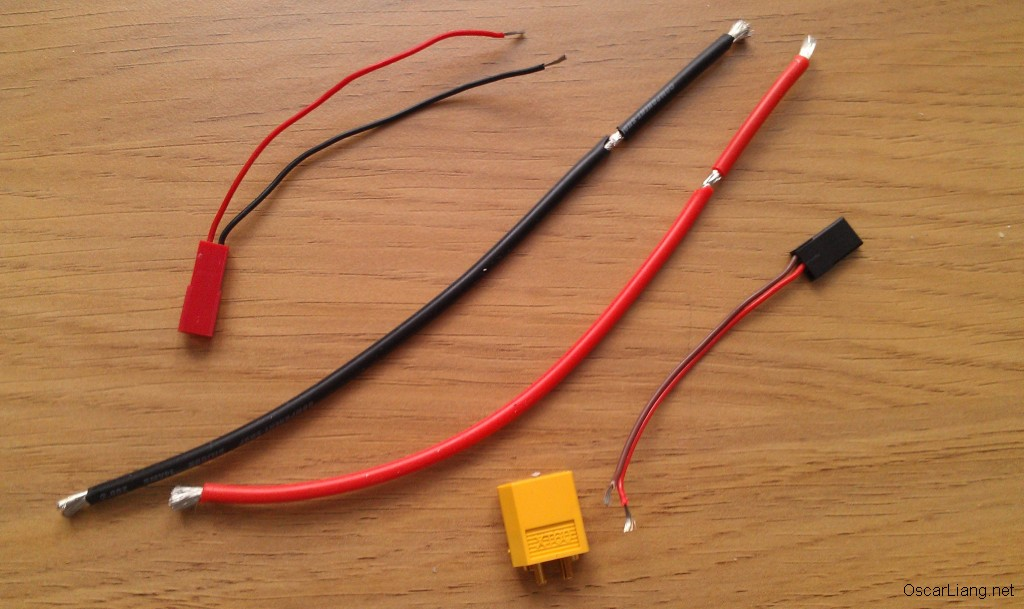 fpv wires and connectors sizes