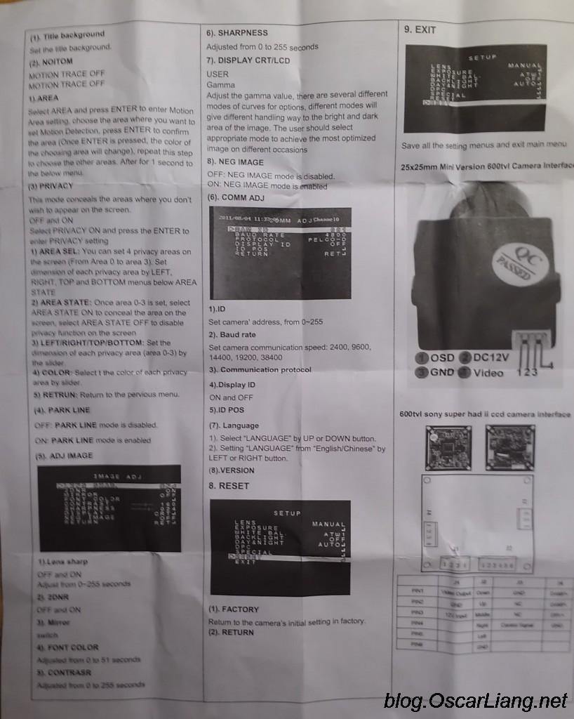 hight resolution of 15 sony 600tvl fpv ccd camera manual 2