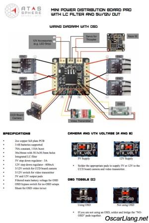 Atas Mini PDB & OSDoge  Power Distribution Boards  Oscar Liang