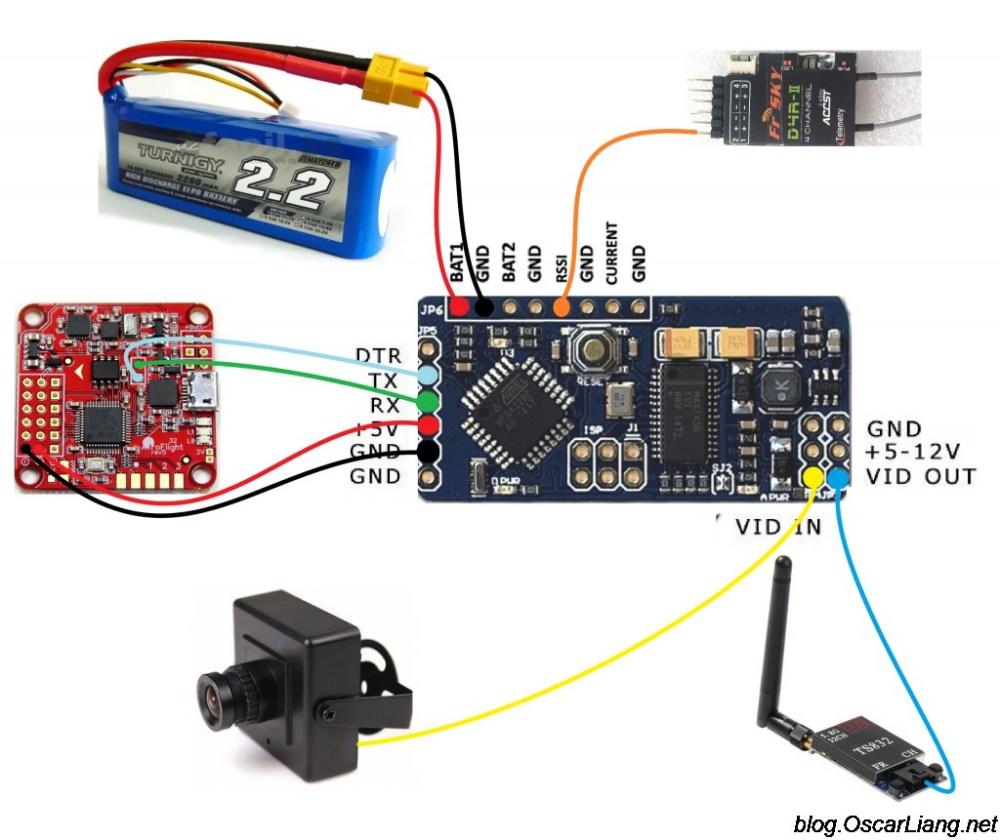 medium resolution of minim osd minimosd kv mod connection naze32 d4r ii rx