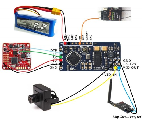 small resolution of how to choose osd for quadcopter oscar liang rc bec wiring rc plane fpv osd wiring diagram
