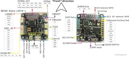 small resolution of emax skyline32 osd flight controller fc f1 pin out diagram