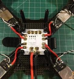 qav x mini quad frame build soldering esc on pdb [ 1024 x 768 Pixel ]