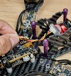 you can also see roughly how long the wires have to be for example check if the fpv camera cable is long enough to reach the video input solder pad on  [ 1200 x 800 Pixel ]
