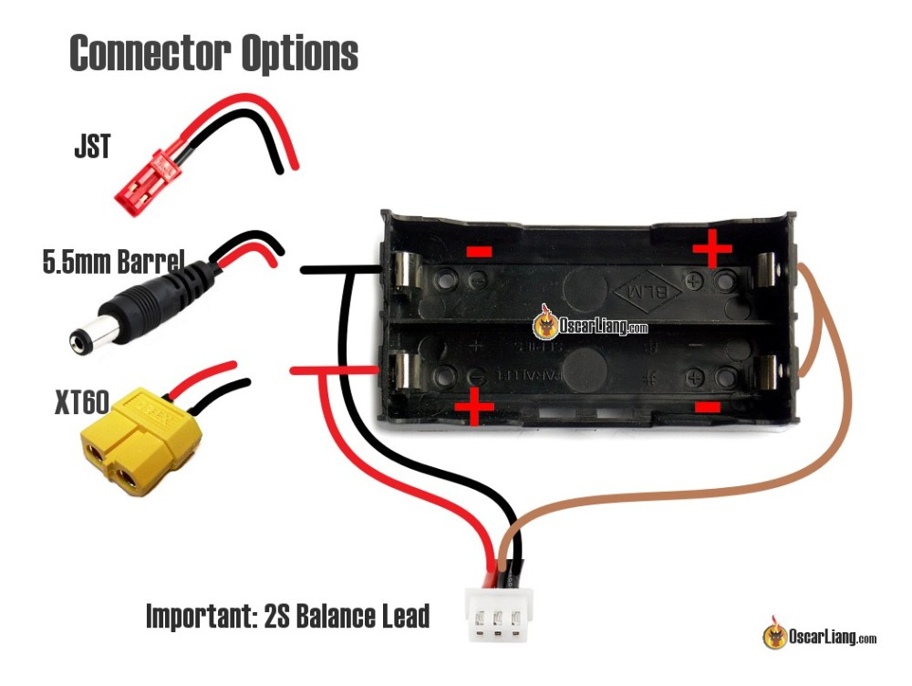 medium resolution of because of the missing middle wire in the balance lead we cannot balance charge the battery to fix that we need to add in the brown wire as shown the
