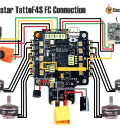 if you are using the tattoo f4s fc here is the connection diagram  [ 1200 x 879 Pixel ]