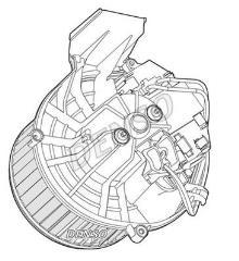 Pulseur d'air habitacle CITROËN Jumpy III VP 2.0 HDi Combi