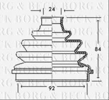 Joint-soufflet, arbre de commande ALFA ROMEO 164 Super 2.0