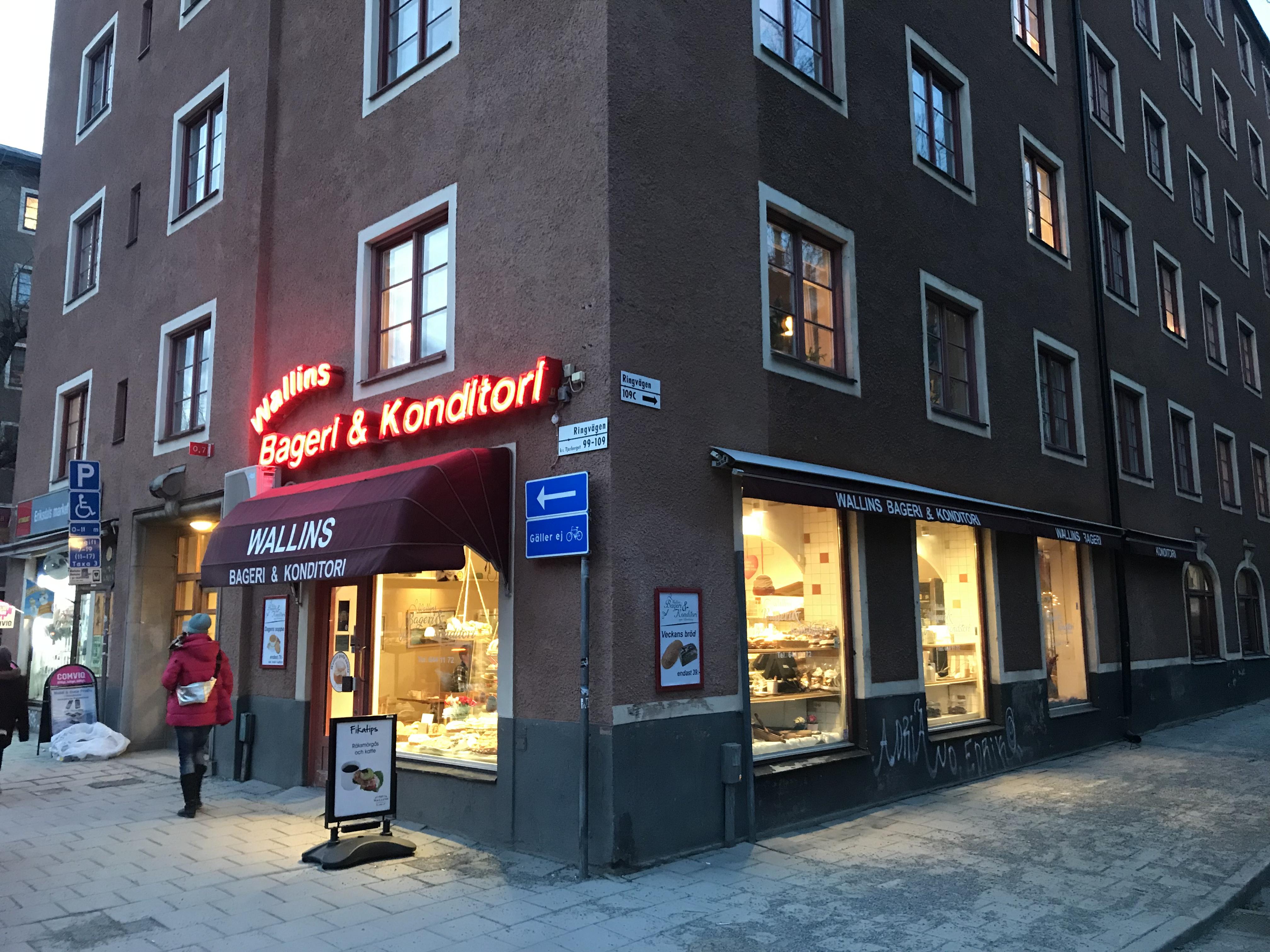 Wallins Bageri och konditori vid Ringen på Södermalm.