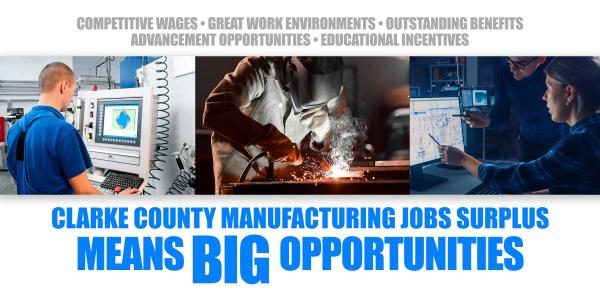manufacturing job surplus clarke county iowa