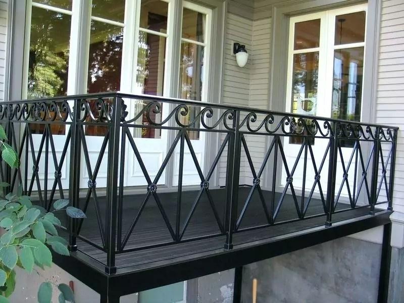 Wrought Iron Balcony Railing Fence Installation Osceola Fence | Adding Wood To Wrought Iron Railing | Cedar | Entryway | Rod Iron | Repair | Process Fabrication