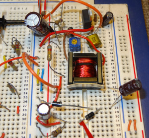 Test circuit (see Part 2) - including voltage doubler to get 300V