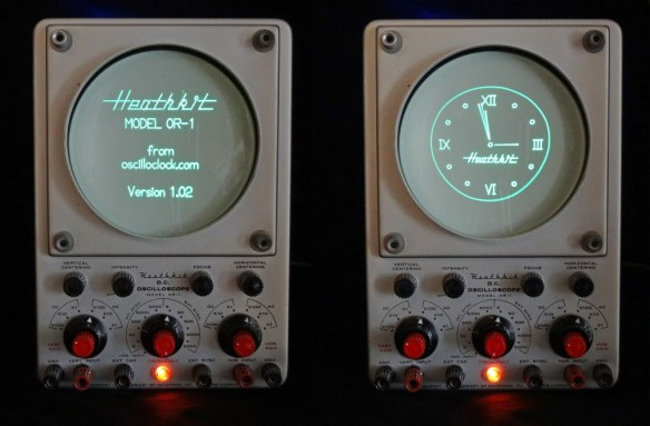 Heathkit Oscilloclock - Splash and Clock