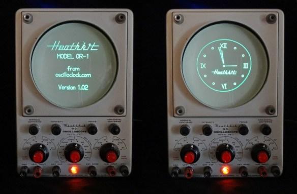 Heathkit Oscilloclock - Splash and Clock