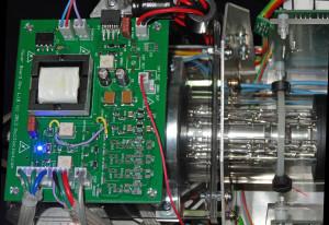 Heathkit Oscilloclock - power board mounted