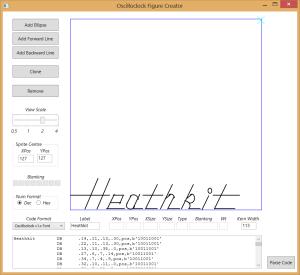 Heathkit Oscilloclock - using Figure Creator