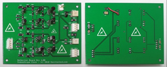 Oscilloclock Deflection Board rev1.02 (Heathkit OR-1)