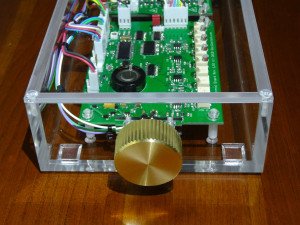 Fluted brass knob, custom-turned by Japanese craftsmen